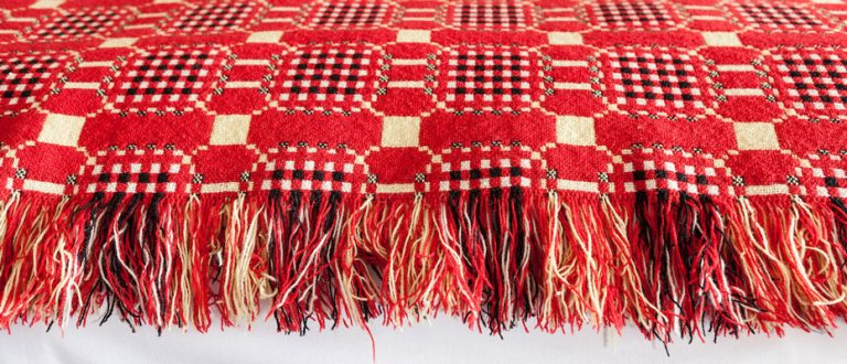 Melyn Ty Gwynt Blanket - Made in Pembrokeshire
