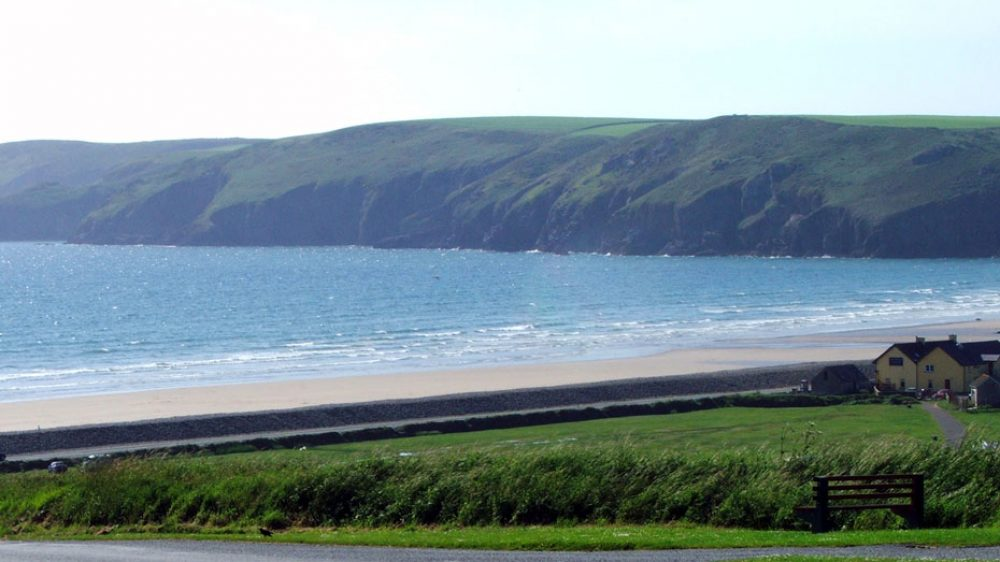 The view of Newgale Beach if you are driving the mile or so from our Holiday Cottages