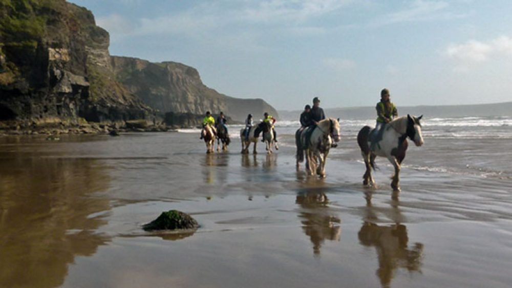Ride along the sands at Druidstone Beach, Pembrokeshire from Nolton Riding Stables