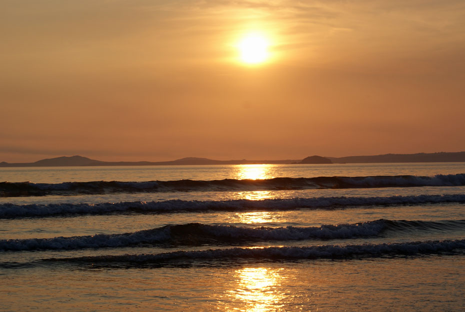 Newgale Beach in the evening - just a mile or so from Rochgate Cottages